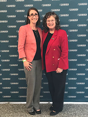 Maureen Monaghan and Fran Cogen at SAMHSA