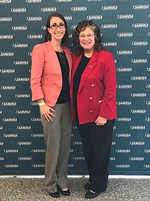 Maureen Monaghan and Fran Cogen at SAMHSA