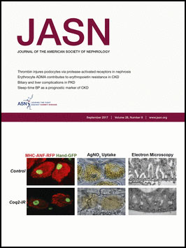 Journal of the American Society of Nephrology September 2017 cover