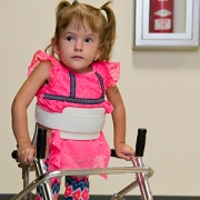 little girl with spina bifida