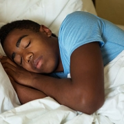 Teenage boy sleeping
