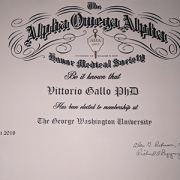 Vittorio Gallo Alpha Omega Alpha Award