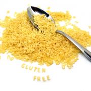 "alphabet pasta spelling out ""gluten free"""