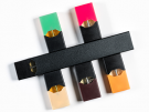 electronic cigarette dispenser with different flavors of nicotine