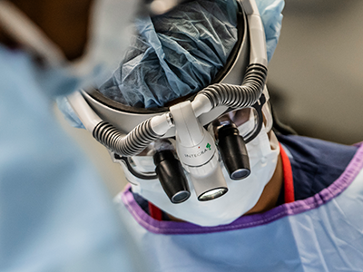 doctor performing neurosurgery