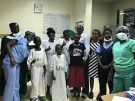 Patients and staff at the Uganda Heart Institute