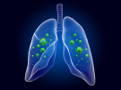illustration of lungs with virus
