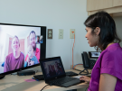 a telehealth video visit with a patient family