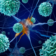 Acute flaccid myelitis concept illustration