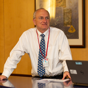 Dr. Roger Packer presents at a meeting