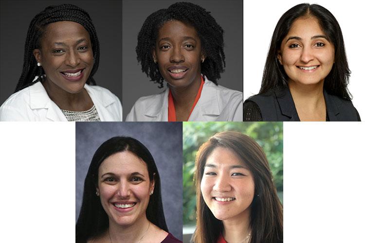 Denver Brown, M.D., Celina Brunson, M.D., Ashima Gulati, M.D., Melissa Meyers, M.D., Catherine Park, M.D.