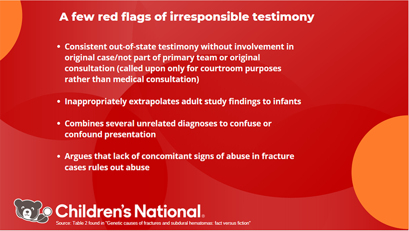 red flags for irresponsible testimony