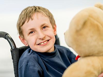 boy with a chromosomal developmental disability.